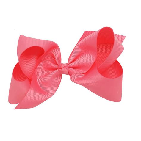 Big Bow With 6 inch big grosgrain ribbon hair bow baby solid hair bows children ebay