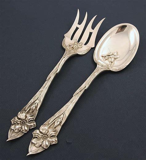 artistic flatware towle nouveau sterling salad set
