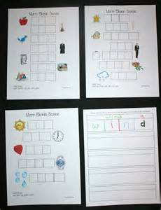 Elkonin Boxes Template by Classroom Freebies More Elkonin Boxes