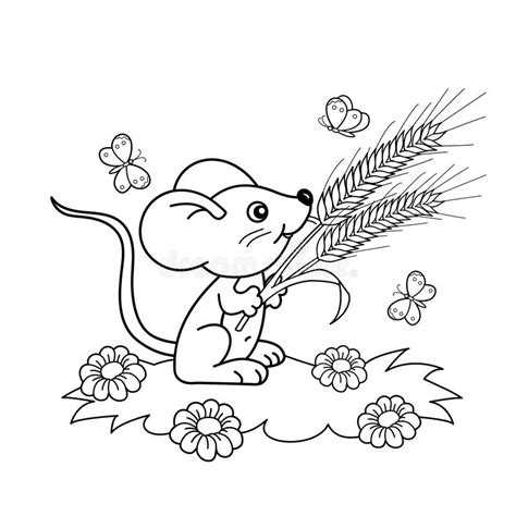 butterfly meadow coloring pages coloring page outline of cartoon little mouse with