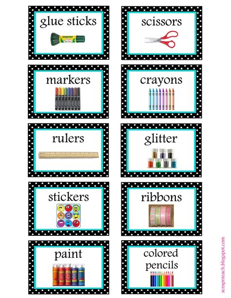 printable labels for kindergarten classroom scrap n teach free tub labels