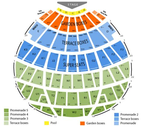 bowl seating view bowl seating chart events in los angeles ca