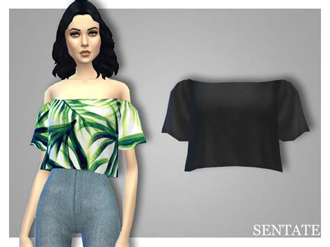 cc for sims 4 sentate s daphne crop top