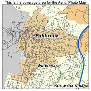 aerial photography map of fallbrook ca california