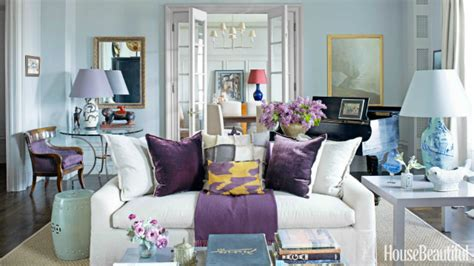 purple accent living room beautiful living room ideas with a white sofa
