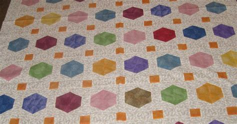 Half And Half Quilt by Judysquiltsandthings Floating Half Hexagon Quilt Take