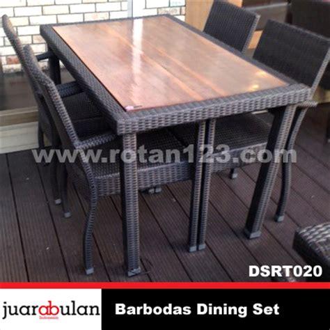 Meja Makan Sintetis harga jual barbodas dining set meja makan rotan sintetis