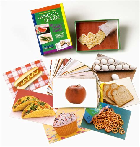 Gift Card For Food - lang o learn food cards stages learning materials