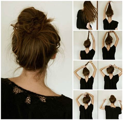 step by step easy updos for thin hair easy updos for long hair step by step to do at home in