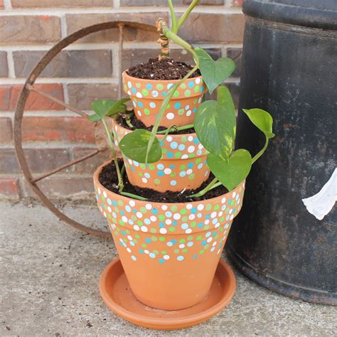 pot designs ideas tiered planter ideas that you can easily make with clay pots