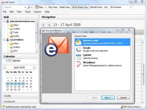 em client mobile em client a alternative to ms outlook free software