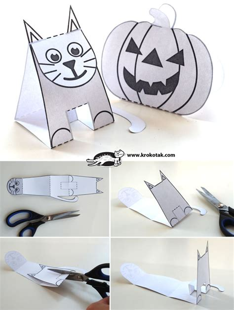 How To Make Easy Paper Toys - krokotak no glue paper toys
