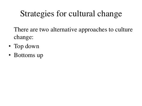 Best Alternative To Mba by Cultural Change Ppt Bec Doms Bagalkot Mba