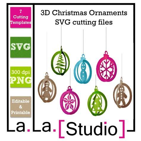 svg  christams ornaments paper crafts pinterest