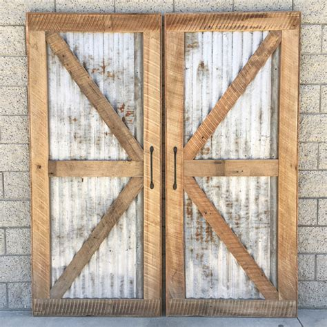 recycled barn doors reclaimed wood sliding barn door with recycled tin