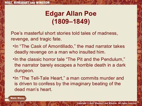 edgar allan poe biography questions and answers dark romantics ppt