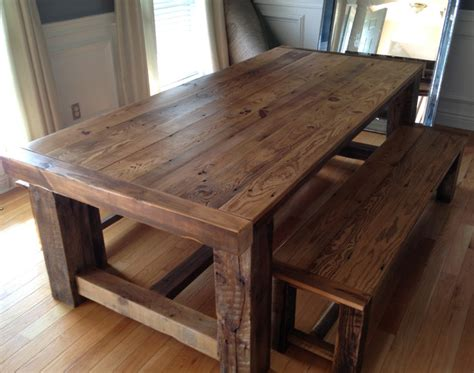 Kitchen Tables Made From Barn Wood Reclaimed Wood Extension Table