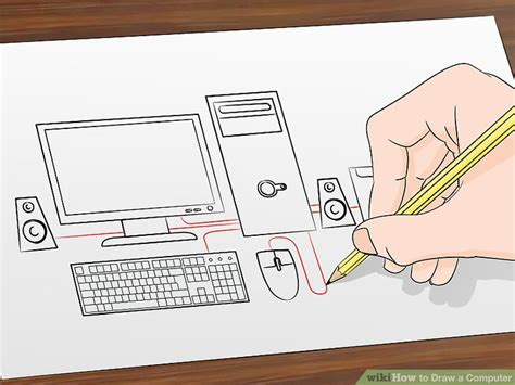 Drawing Computer by How To Draw A Computer 12 Steps With Pictures Wikihow