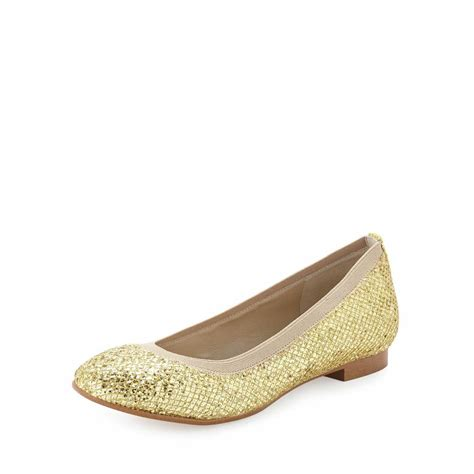 gold flat shoes for andrew s amira glitter flat shoe gold