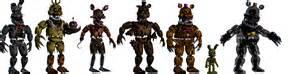 Fnaf 4 transparent animatronics updated by joaozito12mv on