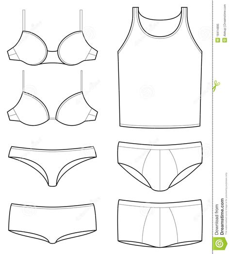 template of underpants templates royalty free stock photo image 18414895