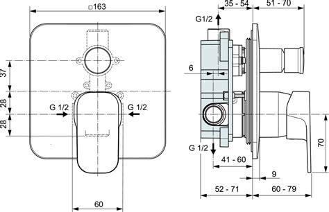 rubinetti dwg dettagli prodotto a6343 miscelatore da incasso