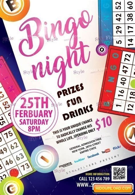 Bingo Night Psd Flyer Template Free Download Free Graphic Templates Fonts Logos Icons Psd Ai Bingo Flyer Template Free