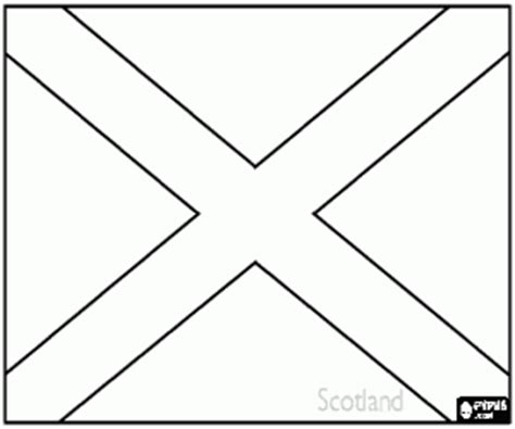 scotland flag printable coloring pages coloring pages