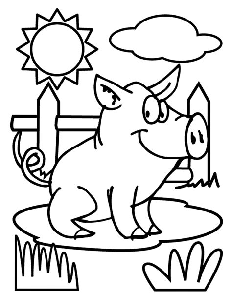 Pig Coloring Pages by Printable Animal Pig Coloring Pages For