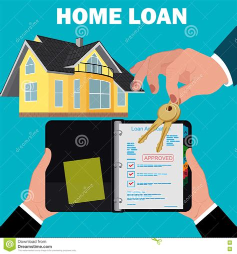 home loan application concept mortgage flat design
