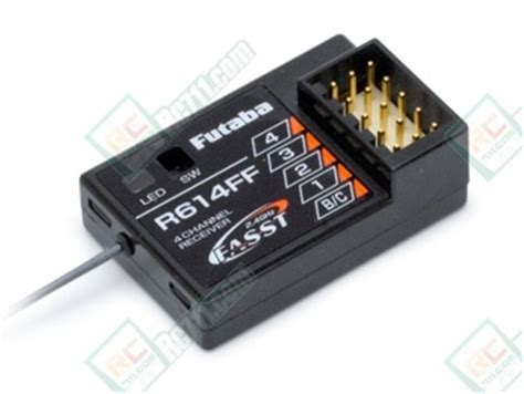 Futaba R614ff E 2 4ghz Fasst 4 Channel Receiver futl7633 futaba r614ff 2 4ghz fasst 4 channel receiver 4pk 4pks buy now rc711