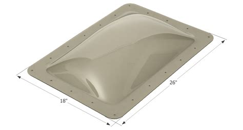 rv bathroom skylight replacement rv skylight 14 quot x 22 quot dome sl1422s smoke ebay