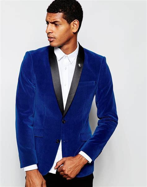 Groomsmen Shawl Lapel Groom Tuxedos Velvet Royal Blue