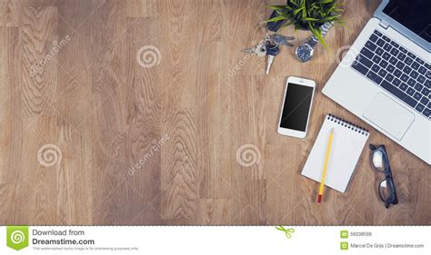 office desk top view top view office desk stock photo image 56038599