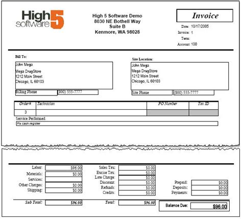 Invoicing High5wiki Balance Due Invoice Template