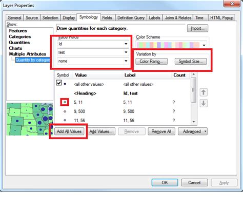 change layout size arcgis arcgis desktop using multiple attributes feature for