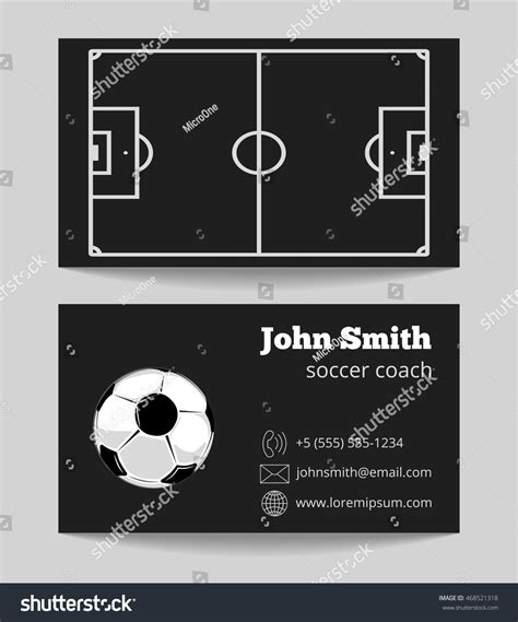 soccer card template soccer black business card template of card with