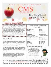 School Newsletter Templates by Best Photos Of Middle School Newspaper Template