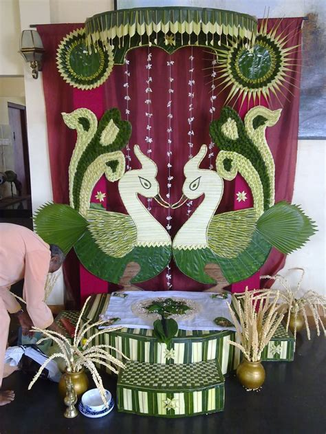 traditional vwedding decor  coconut leavesgok kola