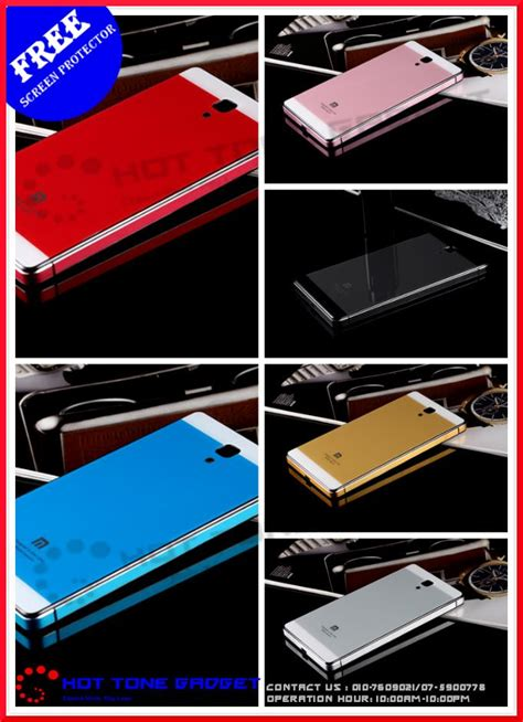 Xiaomi Redmi 1s Aluminium Tempered Cover Casing Armor Hardcase xiaomi mi 3 redmi note redmi 1s tempered glass back cover