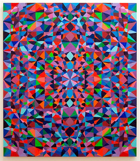 pattern painting artist todd chilton untitled purply pink 2009