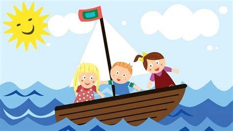 cartoon boat trip three men in a boat