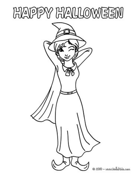 witch costume halloween coloring page winky witch coloring pages hellokids com