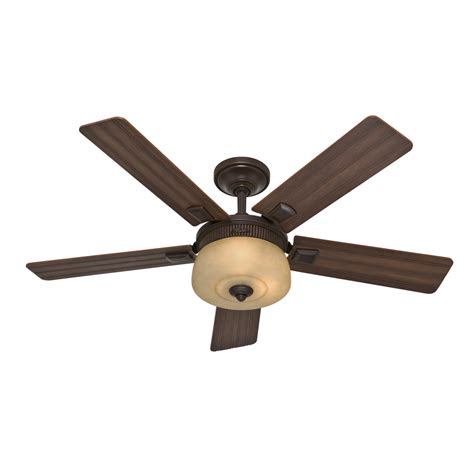 hunter 52 onyx bengal bronze ceiling fan shop hunter 52 in onyx bengal bronze downrod mount indoor