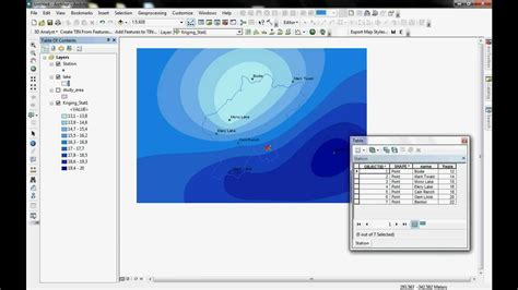 tutorial kriging arcgis arcmap arcscene gis interpolation kriging method mono lake