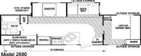 layton rv floor plans 2007 skyline layton 2680 floorplan