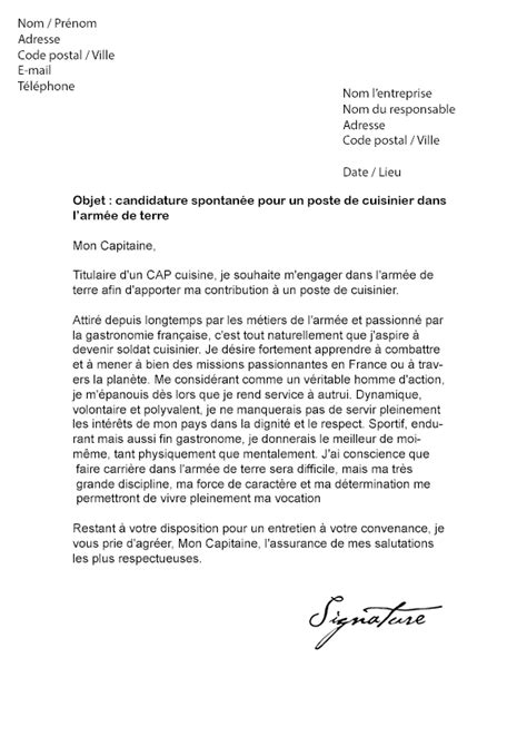 Lettre De Motivation Ecole De Transport Lettre De Motivation Arm 233 E De Terre Mod 232 Le De Lettre