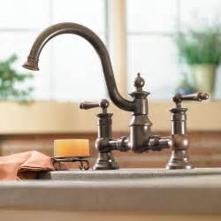 bronze faucet kitchen moen s713orb waterhill two handle high arc kitchen faucet