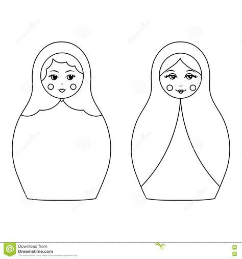 matryoshka outline pictures to pin on pinterest thepinsta