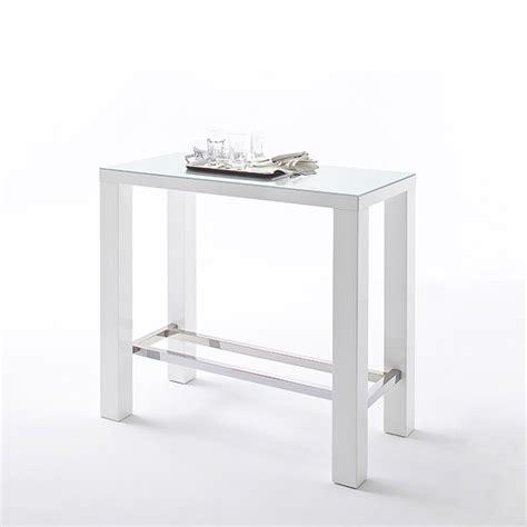 rectangular glass bar table jam high bar table rectangular in white gloss and glass